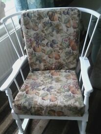REDUCED-Vintage upcycled nursing/ rocking chair in lovely condition