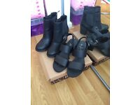 Size 4 - one pair Boots, one pair Sandals