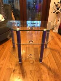 Glass tv stand for sale £20