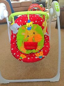 Baby musical rocking swing! Good condition