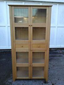 Beautiful Oak modern display unit with 2 draws