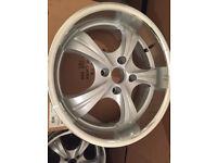 """Deep dish Alloy wheels 17"""" inch Ford b-max cougar escort fiesta focus ka mondeo puma alloys wheel"""