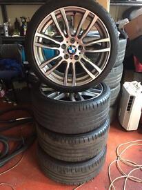 "Genuine BMW alloys 19"" new style (brand New, good tyres)"
