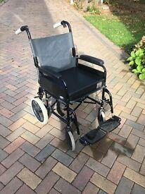 Wheelchair folding and lightweight push along