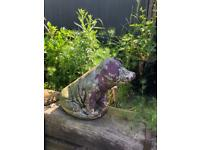 large vintage concrete pig garden ornament decoration prop