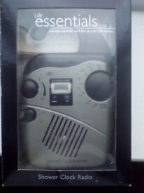 NEW PyleHome PSR6 Hanging Waterproof AM/FM Shower Clock Radio only £9