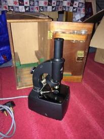 Vintage microscope