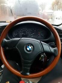 Bmw genuine nardi wooden steering wheel and gear selector