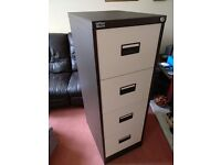 High Quality Well Made Four Drawer Lockable OfficeWorld Filing Cabinet in Excellent Condition *Yate*