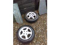TSWS, 175/65/15 pair of alloys, 4 stud, wheels, trailer wheels. spare wheel.