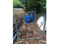 Galvanised stillage, post pallet, racking. Ideal for storing fence posts and timber