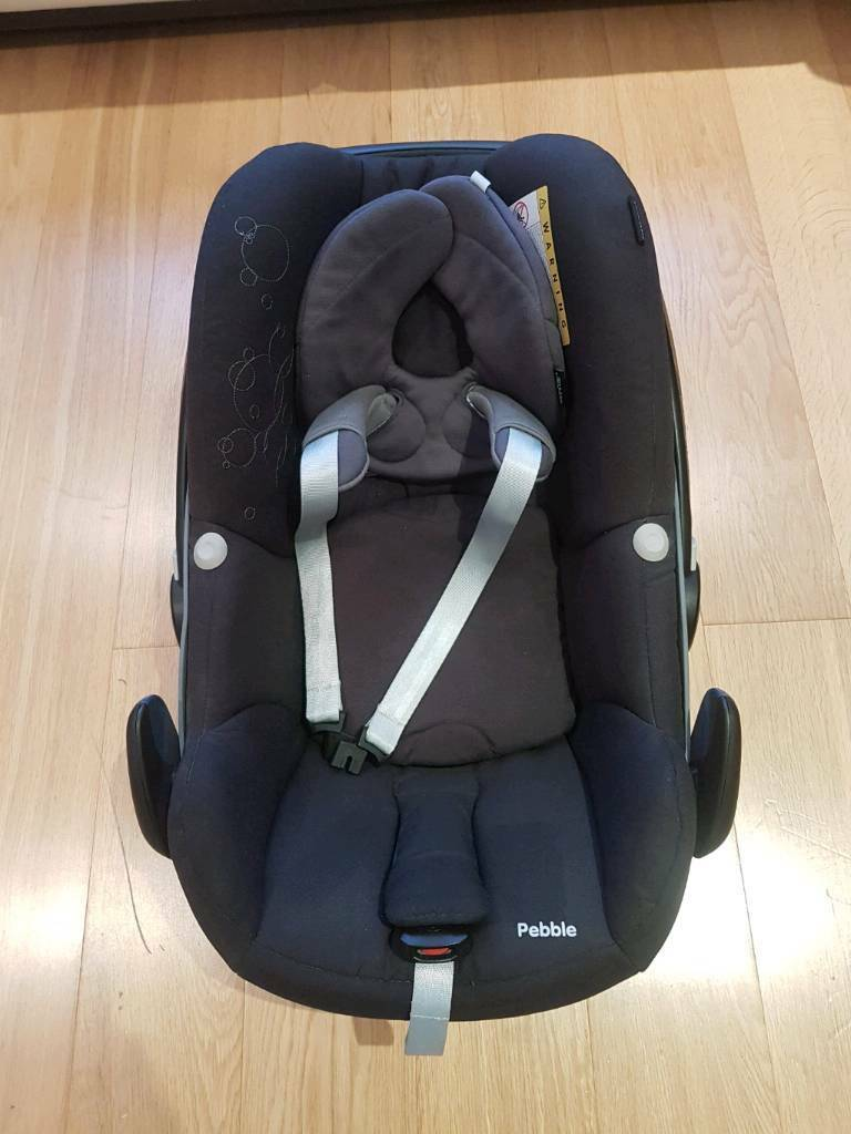 Maxi Pebble Car Seat With Newborn Insert And Sun Canopy