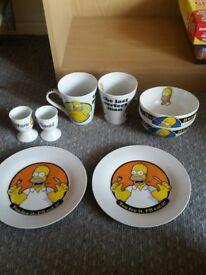 Simpsons Dinner Set