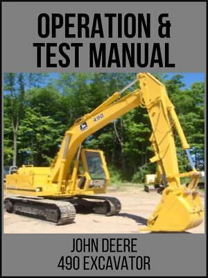 John Deere 490 Excavator Repair Operation And Test Technical Manual Tm1302 Usb