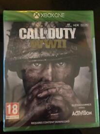 Call of duty ww2 Xbox one new and sealed