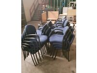 Blue Stacking Office Chairs
