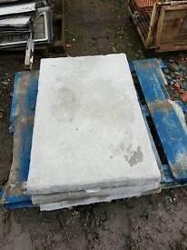 Standard grey 3x2 Riven concrete paving slabs