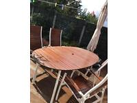 Garden Furniture / Table with 4 Chairs