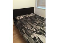 IKEA bed frame with mattress in great condition