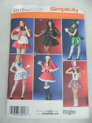 SIMPLICITY Sexy Witch-Claus-Red Riding Hood-Mad Hatter 4015 Sew Pattern UNCUT NN