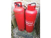 47KG Calor Gas Bottle FULL (and free half used 2nd bottle and regulator!)