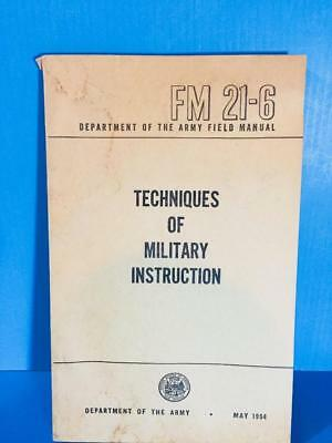 1954 FM 21-6 TECHNIQUES OF MILITARY INSTRUCTION   Field Book