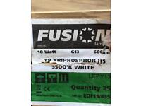 18W T8 2ft Triphosphor Fluorescent Tubes White- 30 tubes to sell as one lot