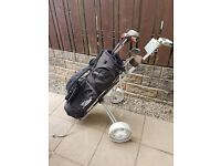 Golf clubs bag and trolley ping titleist power caddy