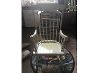 Free painted wooden rocking chair