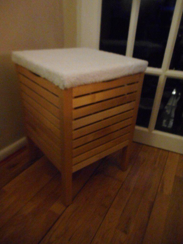 wooden storage ikea stool