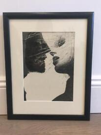 Original sketch black and white mount and black frame £20