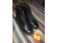 Black Doc Martin 8 Hole Boots Size 6 (Only worn twice!)