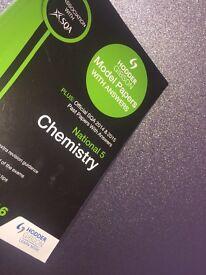 Hodder Gibson SQA endorsed national 5 Chemistry PastPaper book.