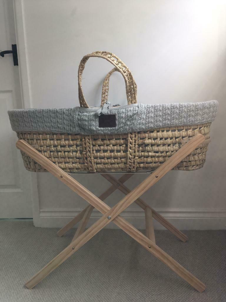 watch aad96 44be5 The Little Green Sheep Organic Knitted Moses Basket & Mattress and stand |  in Deeping St James, Cambridgeshire | Gumtree