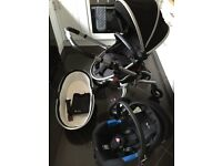 Silver Cross Surf 2 black complete travel system pram buggy car seat plus extras