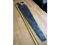 Vintage Hand Logging Saw + 2 Spear & Jackson Saws