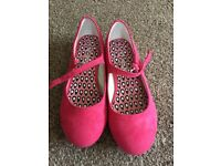 Pink suede girls size 13 shoes