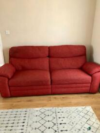 ScS 3 seater electric recliner sofa and 2 armchairs