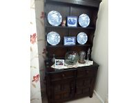 Welsh dresser, small unit and display cabinet.