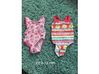 9-12 month girl swim wear bathers