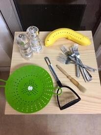 Assorted kitchen ware - *new items added*
