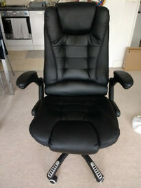 Black Executive Height Adjustable Chair -- COLLECTION ONLY