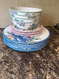 Cath kidson high gate rose 10 piececollection