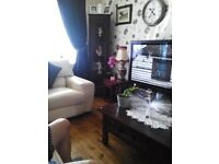 Two free standing wall units that light up side unit with two glass doors very good condition