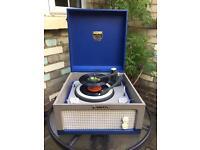 Dansette 'major' valve Record Player in rare blue!