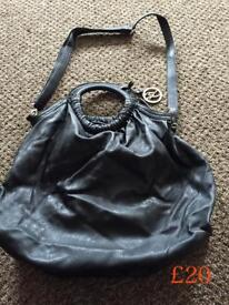 Brand new Designer Black Leather Bugle Fiorentine Bag