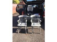 Two gray colour carved chairs £85 Free Delivery Local