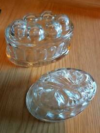 Glass jelly moulds