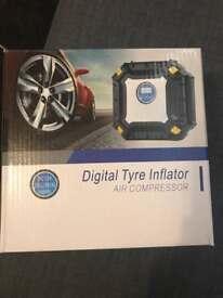 digital tyre inflator air compressor
