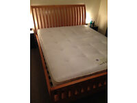 King Size Sleigh Bed Solid Wood with pocket spring mattress. Very nice solid bed.